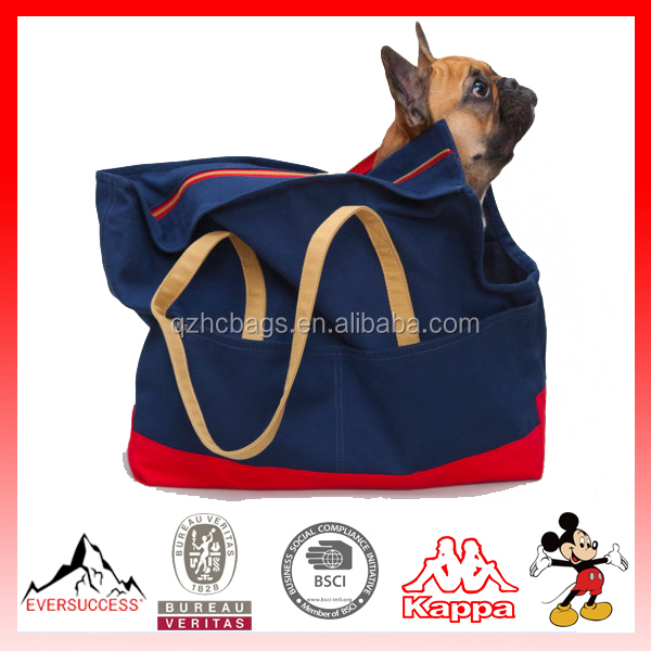 Newly Designed 2016 Model canvas dog carrier Canvas Pet Tote(ES-Z345)