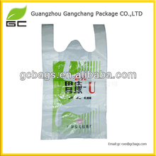 alibaba china material printed plastic t shirt shopping bag
