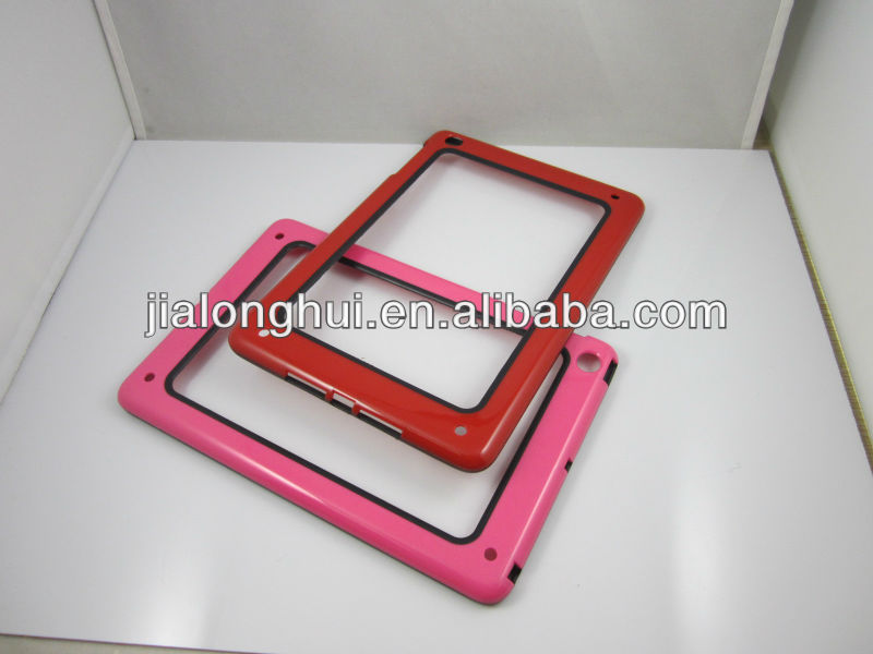 2013 Colorful pc+tpu Bumper For iPad Mini Case