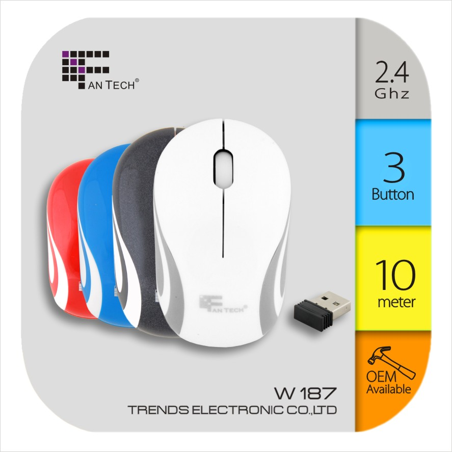 Easy Tracker Optical Mouse Fantech W187 Mini Tracker Notebook Mouse