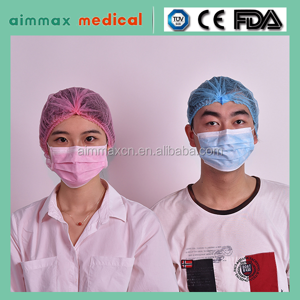 certificate approved Free Sizes disposable non woven medical surgical caps