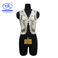 (YJC6430) fashion latest machine embroidery water soluble african new design vest lace for women cloth accessory