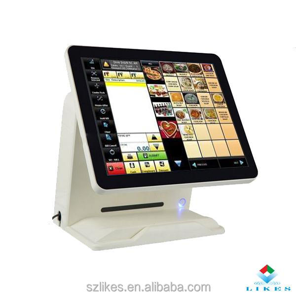 Capacitive touch screen cash register stand with VFD customer display