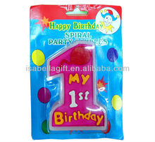 2012 new style happy birthday party candle