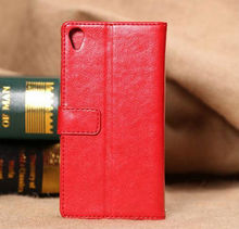 2015 new product fine sheep grain wallet flip leather case for Sony Z3