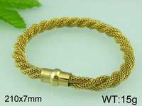 15g 210x7mm Light Weight Gold Plated Stainless Steel Mesh Bracelet