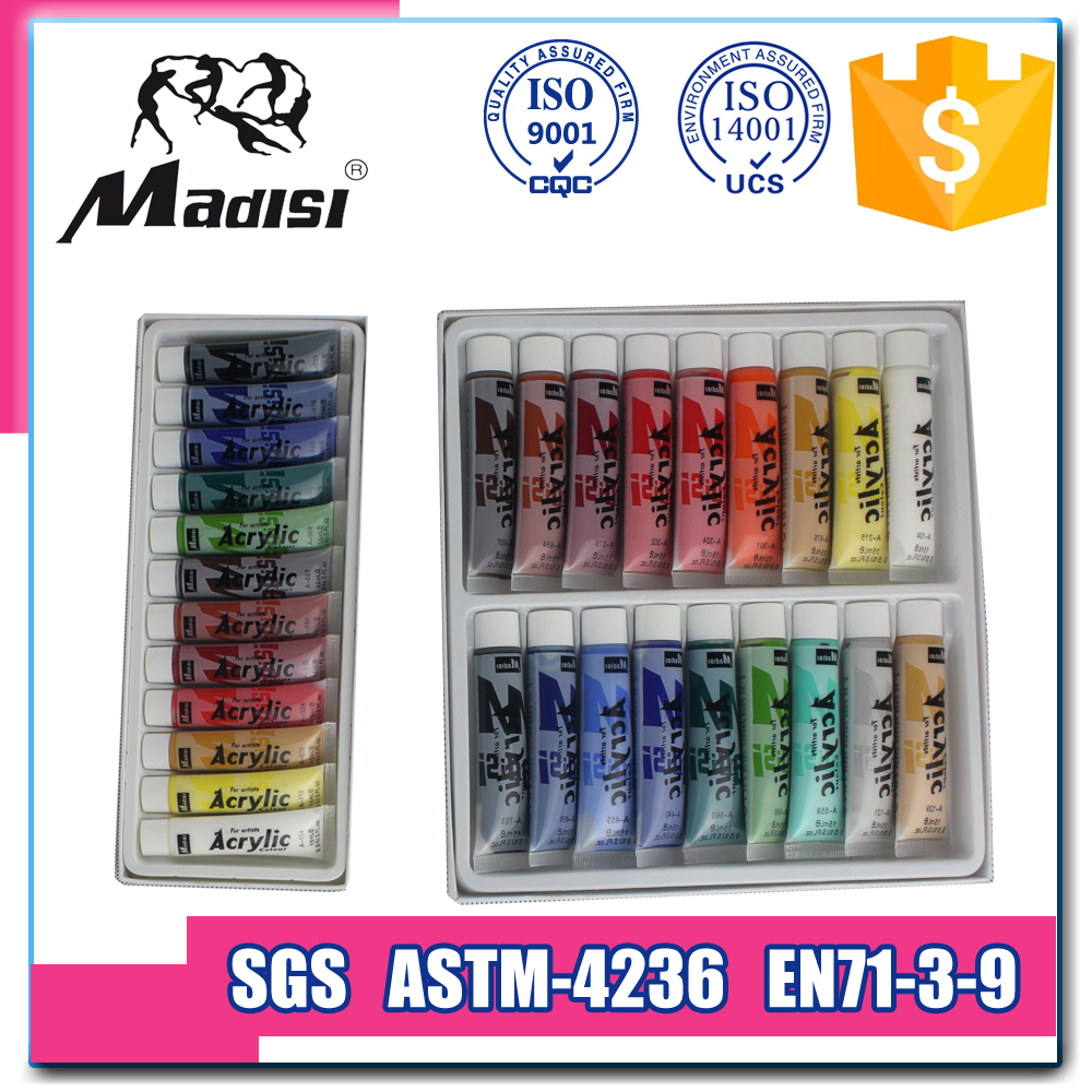 Madisi Brands Factory OEM 18 Color Set Acrylic Paint Private Label Wholesale