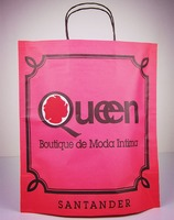Retailing Shops New style kraft paper bag/ cost-saving&eco-friendly