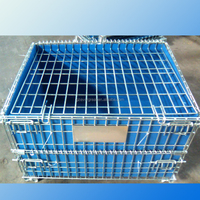 folding and stackable storage cage/galvanized wire mesh container