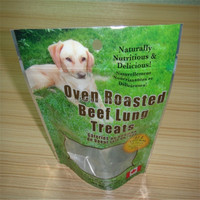Clear window available customized plastic ziploc dog food bag manufactured by factory,wholesale low price and top quality