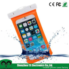 outdoor beach swiming 10m touchscreen PVC waterproof cell phone bag for iphone
