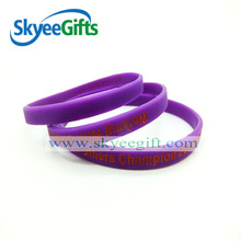 custom service life is long purple silicone bracelet