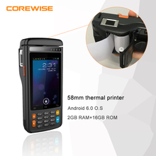Android 6.0 Handheld 4G/WIFI Bluetooth POS Terminal with 58mm Thermal Printer