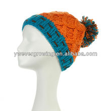 2013 korean fashion knitted cap with top ball pom pom winter beanie hat
