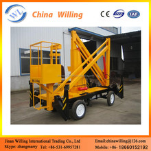 Hot sales towable boom lift trailer mounted cherry picker folding arm lift with CE WLQ-10.5