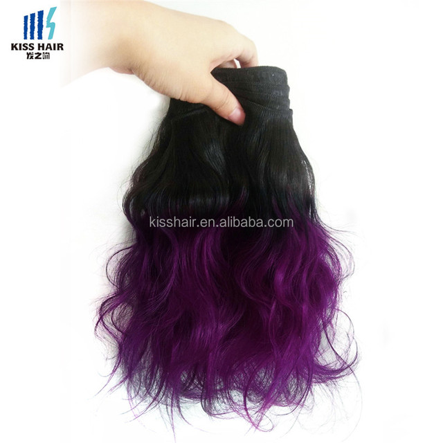 T 1B Purple Grey Green Red Pink Blonde Body Wave Human Hair Weave Colored Peruvian Hair Extensions 10-18 inch Ombre Virgin Hair