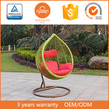 Outdoor rattan wicker adult swing seat rattan hanging chair sex swing