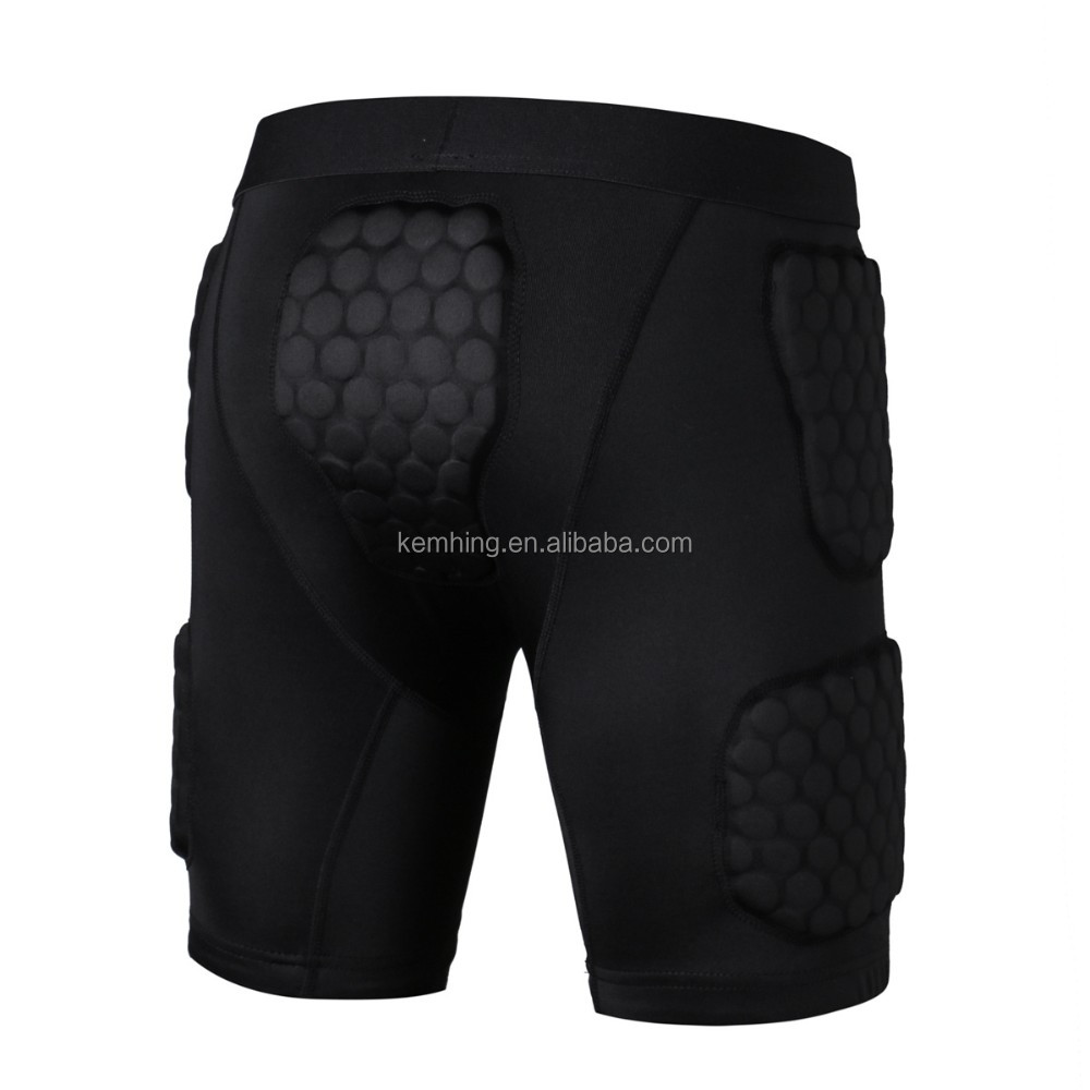 youth padded compression shirt rubber foam padded man sports wear vest shorts sports wear costumes