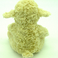 white soft stuffed animal plush sheep