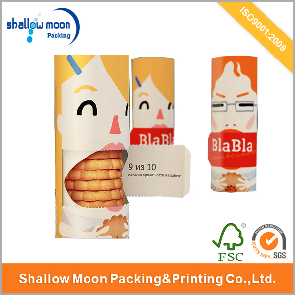 Unique Style Glossy Cookies Packing Tube Box