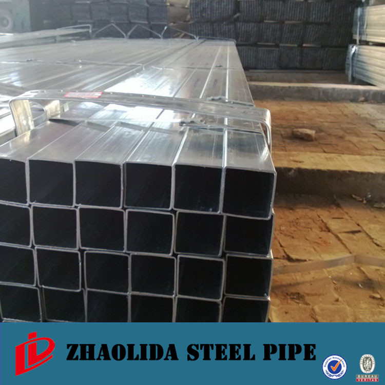china manufacture ! galvanised/gi square steel pipe 60mm*60mm pre galvanized square tube