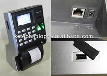 3000 Register Capacity/ 100000 Record Capacity Biometrics fingerprint time attendance with builtin thermal printer KO-P40