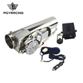 PQY RACING - Universal 2.5'' or 3'' Exhaust Pipe Electric I Pipe Cutout with Remote Control Wholesale Valve For Jeep Wrangler