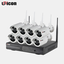 Unicon Vision H.264 720P Plug and Play P2P CCTV Wireless IP Security Camera 8CH Wifi NVR KIT