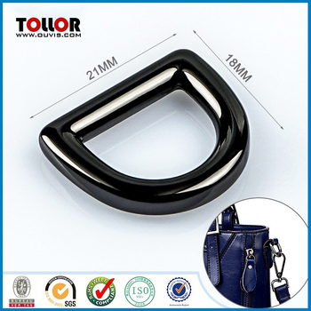 Gunmetal Custom D ring Buckle for Bag Strap