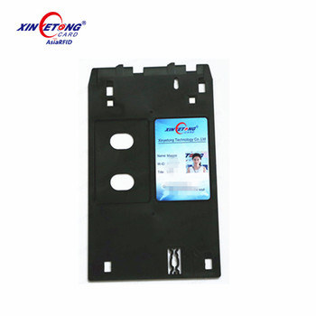 pvc id card tray for epson/canon or pvc card sheet for printer
