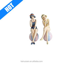 Personlized Resin Vintage Beauty Sexy Girl Figurines