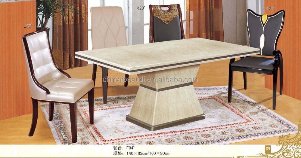 Latest Marble Dining Tables With Hand Carved Wooden Base