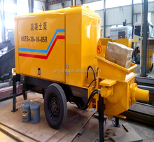 advanced mobile cement stone concrete pump for sale