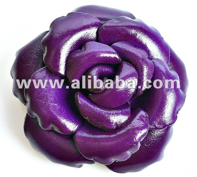 Hair Clips, Hairgrips Leather Rose Flower
