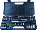 "52PCS Professional Hand Tool Set 1/4""&3/8""&1/2"" Combination Drive Socket Set"