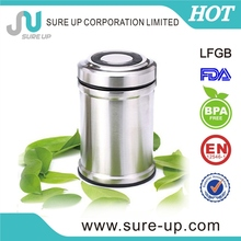 Colorful printing the most fashionable stainless steel vacuum food container with pp lid (CSUE)