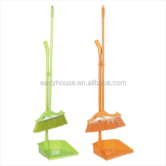 hot design plastic lobby dustpan with brush