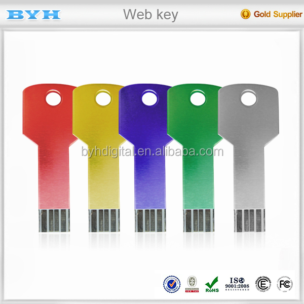 Key shape portable credit card ultra thin colorful usb flash drive paper webkey button