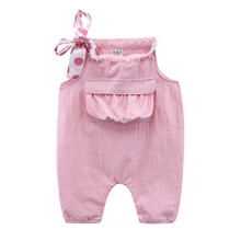 Fashion Kids Overalls Long Cotton Harem Pants for Girls