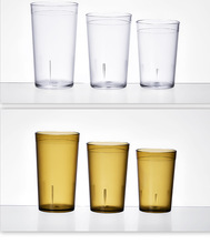QM 3 size PC plastic practical frosted water/beer/juice cups