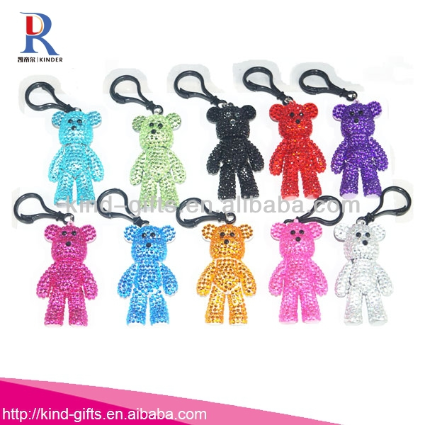 Most Beauty Bling Plastic Pink Teddy Bear Keychain