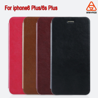 For iphone 6/6s Plus Leather case wallet mobile back cover case with card slots Window show PU leather cover