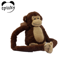 Customized accepted plush hanging monkey long arms and legs monkey plush toy