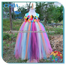 3layers flower girl tutu dress tutu grown fashion kids party wear girl tutu dress for girls