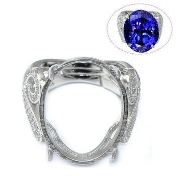 Beadsnice ID30608 925 silver ring setting removable newest design 20.5x16x4mm sold by PC silver ring base for women