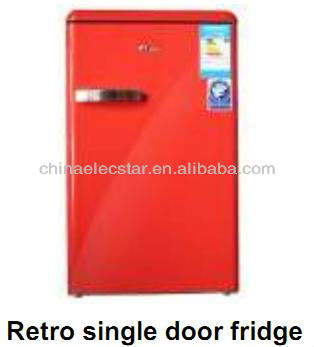 with CE/CB/ETL, colorful single door upright larder/freezer retro cube/retro refrigerator/retro fridge