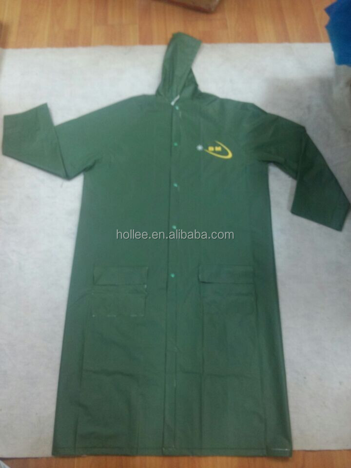 100% waterproof high quality Jenny yellow pvc raincoat