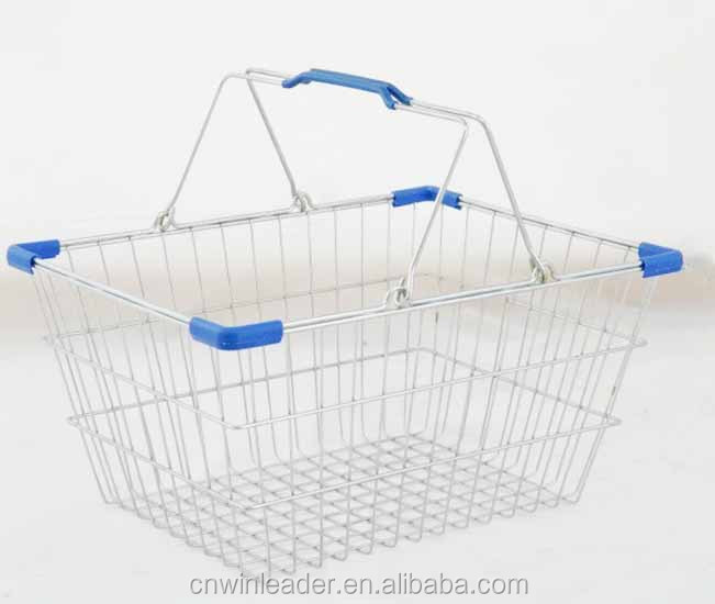 YLD-WB16 Chromed wire shopping basket with handle/wire hanging baskets wholesale