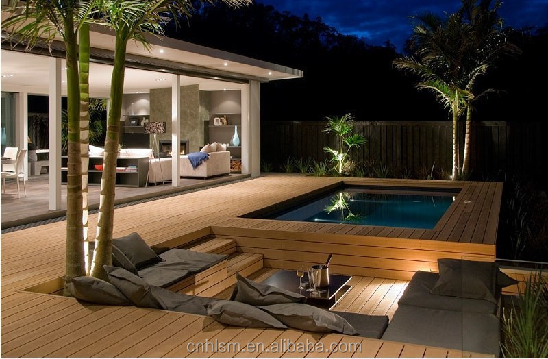PE wood outdoor brazil decking / ipe faux wood composite