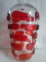 Hand made mouth blown murano glass vase made in china